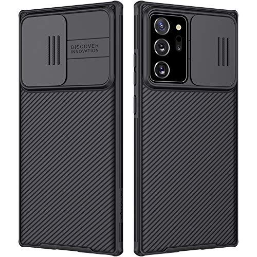 Nillkin CamShield Samsung Galaxy Note 20 Ultra Hülle - Stylisch Schutzhülle mit Kameraschutz & Anti-Rutsch Stoßfest Kratzfest Technologie Handyhülle für Galaxy Note 20 Ultra 6.9'' Hülle Schwarz