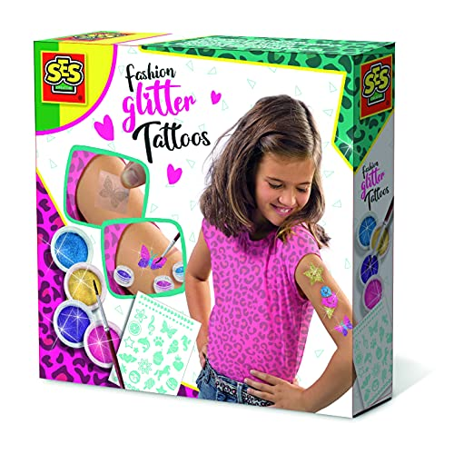 SES Creative 14142 Fashion Glitter Tattoos, neutral