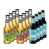 Burro de Sancho Pack degustación cerveza artesana. 4 botellas de Burro Rubia + 4 botellas de Burro Tequila + 4 botellas de Burro Negra. Caja con 12 botellas de 330 ml