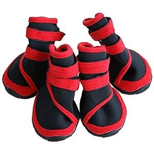 Treat Me 4 Bottes / Chaussures Imperméable de Chien Bottes Pliable Chaud Protection pour Moyen/Grand Chien