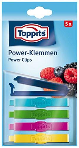 Toppits Power-Klemmen, 5 Stück - 1Packung - 6x