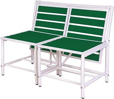 Esschert Design BL065 Convertible Foldable Bench, Green
