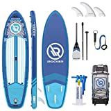 iROCKER All-Around Inflatable Stand Up Paddle Board 10' Long 32' Wide 6' Thick SUP Package | Blue 2019