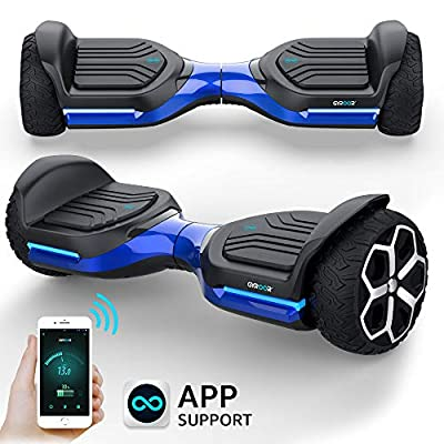 """Gyroshoes Hoverboard off road all terrain Self Balancing hoverboard 6.5"""" T581 Flash Two-Wheel Self Balancing Hoverboard with Bluetooth Speaker and LED Lights for Kids and adults Gift UL 2272 Certified"""