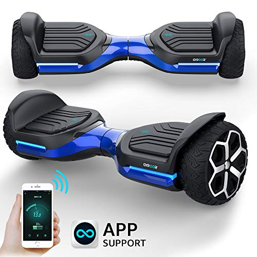 "Gyroshoes Hoverboard Off Road All Terrain Self Balancing Scooter 6.5"" T581 Flash Two-Wheel Self Balancing Hoverboard with Bluetooth Speaker and LED Lights for Kids and Adults Gift UL 2272 Certified"