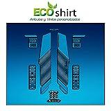 Ecoshirt I6-KZ2L-SZMZ Pegatinas Stickers Horquilla Rock Shox Reba RL Fork Am57 MTB Downhill, Azul 29'