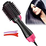 ZDATT Hair Dryer Volumizer, 4 in 1 Salon Styling Hot Air Brush and Styler, Negative Ion Straightening Brush Curl Brush, Multi-functiona(AA)