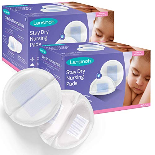 Lansinoh Stay Dry Disposable Nursing Pads, Superior Absorbency, Ultra Soft Leak Protection...