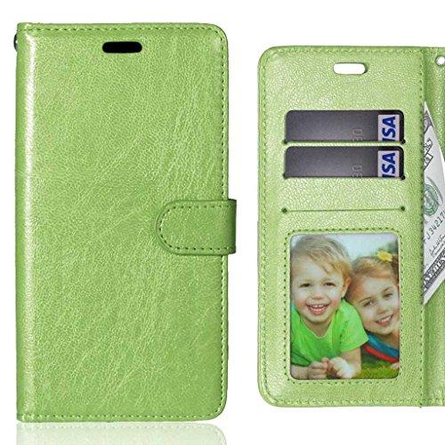 LEMORRY Handyhülle für Lenovo Vibe X3 Hülle Tasche Geprägter Ledertasche Beutel Schutz Magnetisch Schließung SchutzHülle Weich Silikon Cover Schale für Lenovo Vibe X3, Bilderrahmen Grün