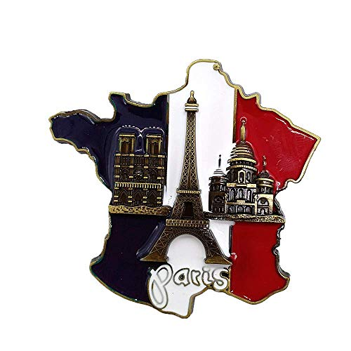 Eiffel Tower Paris France 3D Metal Fridge Magnet, Home & Kitchen decoration magnetic sticker Paris France refrigerator magnet tourist souvenir gift