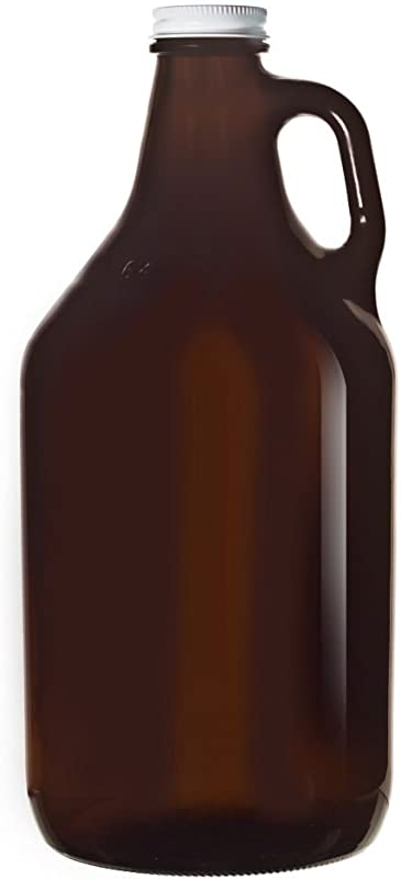 Libbey 70217 Amber Glass 64 Ounce Beer Growler 6 CS
