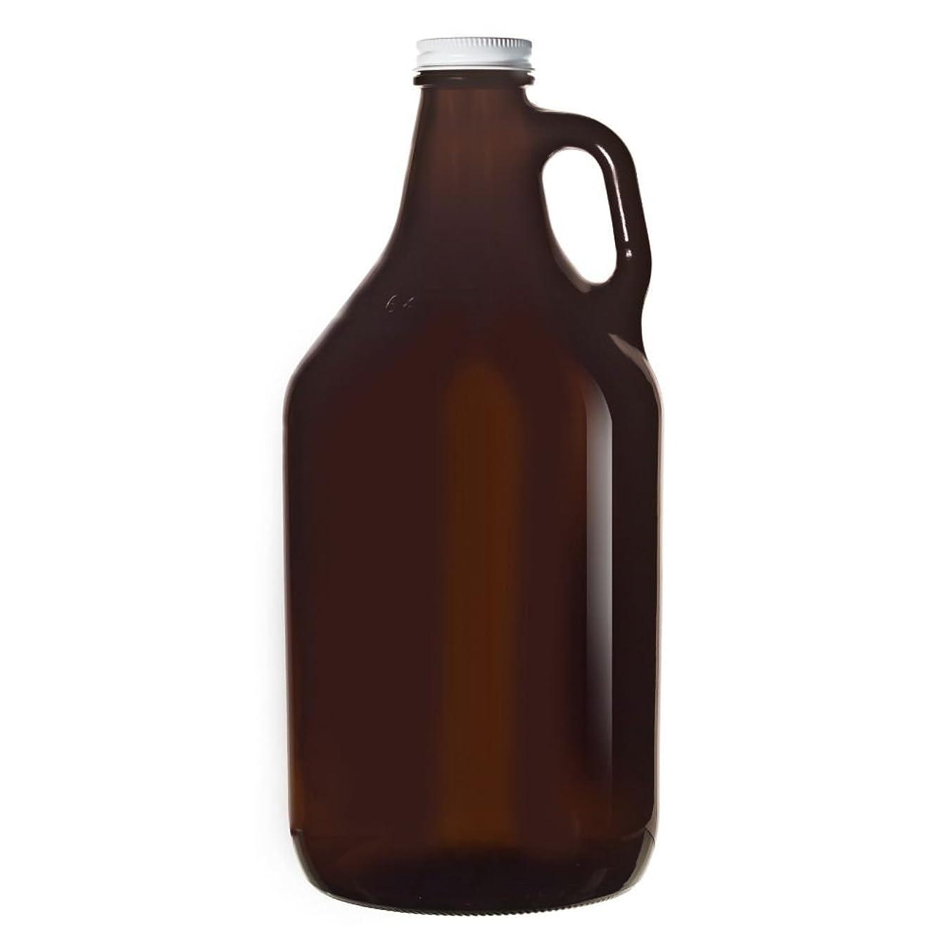Libbey 70217 Amber Glass 64 Ounce Beer Growler - 6 / CS