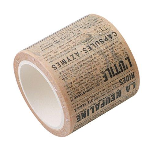 Chinget Vintage Washi Tape Dekoband Masking Tape Klebeband DIY Craft Dekorative Scrapbooking Geschenkpapier, Lange 8M (Zeitung Stil)