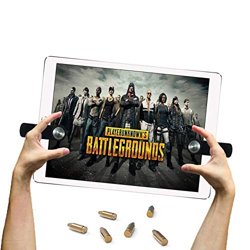 EEkiiqi Mobile Game Trigger Tablet Pad Game Controller Shoot and Aim Trigger Fire Buttons kompatibel mit PUBG Mobile Controller Fortnite/Knives Out/Rules of Survival für i-Pad Tablet