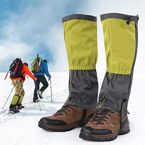 Alomejor 1 par de Botas de Nieve Leggings Polainas Impermeables de Invierno Cubierta de Zapatos Deportivos al Aire Libre para Escalada Senderismo Montar a Caballo