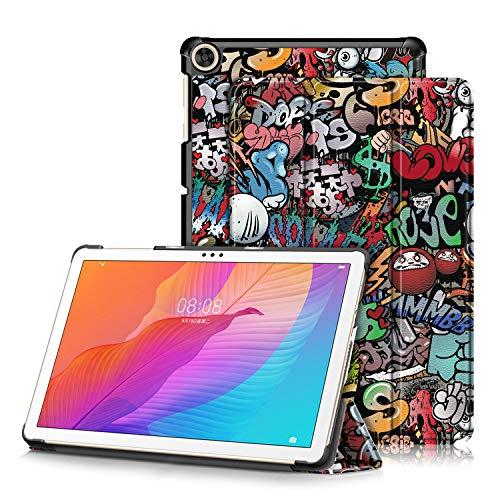 topCASE Ultra Delgado Funda para Huawei Matepad T10/T10S 10.1 Pulgadas Tableta Carcasa Smart Cover Case con Soporte Función,Pintada