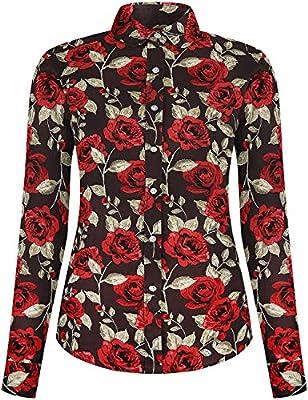 DOKKIA Women's Fashion Tops Feminine Long Sleeve Button Down Work Casual Dress Blouses Shirts