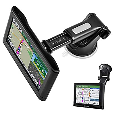 Garmin Nuvi 42 42LM 44 44LM 52 52LM 54 54LM 55 56 56LM 56LMT 2457LMT 2497LMT 2577LT 2597LM 2597LMT 2558LMTHD 2598LMTHD Black EKIND Replacement Bracket Cradle Mount Compatible for GPS Garmin Nuvi 52