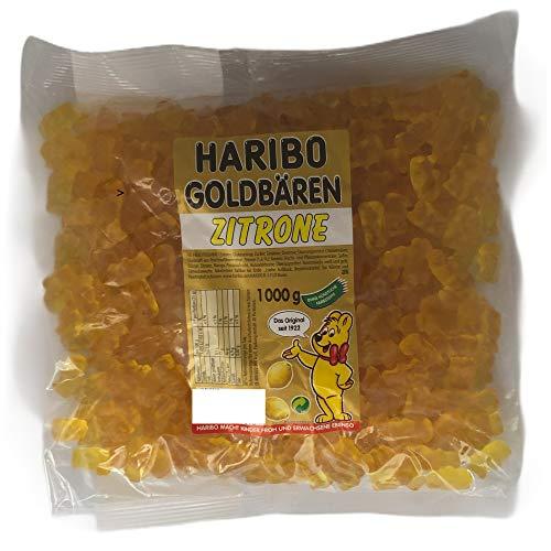 Haribo Goldbären Zitrone, sortenreine Gummibären, 1 KG