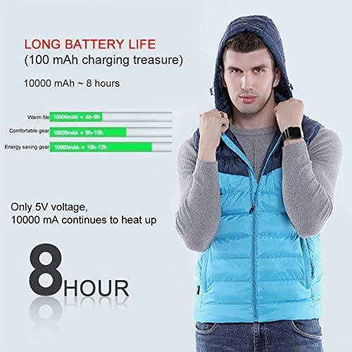 WWSZ Chalecos Termico Exteriores Carga USB Chaleco El/éctrico Lavable para Ni/ño,Chaqueta Calentador con 3 temperaturas Ajustables,Abrigo T/érmico para Actividades Fr/ías Al Aire Libre