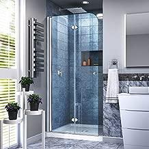 DreamLine Aqua Fold 33 1/2 in. W x 72 in. H Frameless Bi-Fold Shower Door in Chrome, SHDR-3634720-01