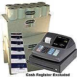 EPOSBITS® Marca 100 rollos + 5 tintas para caja registradora Sharp XE-A106 XEA-106 XEA106