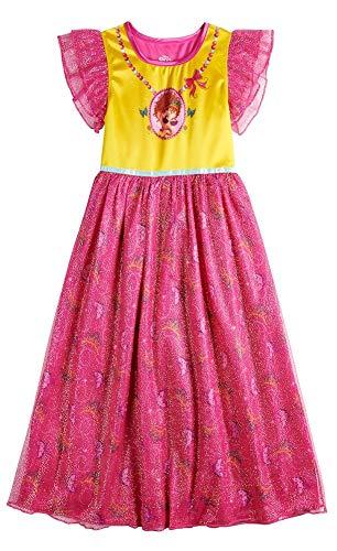 Disney Fancy Nancy Little Girls Fantasy Gown Nightgown, Fancy Nancy Pink/Yellow, 4