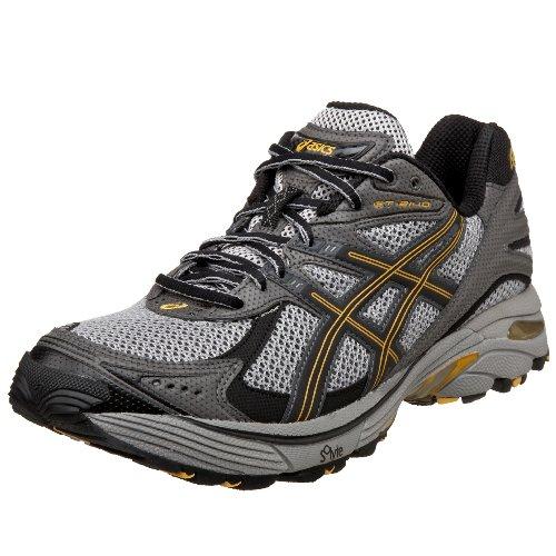 ASICS Men's GT-2140 Trail Running Shoe,Penguin/Black/Marigold,12 D US