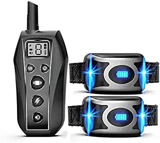 Training Collars - Pet Dog Training Collar IPX7 Waterproof Rechargeable Remote Beep Vibration Shock E Collar Dog Trainer A...