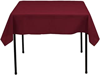 Gee Di Moda Square Tablecloth - 52 x 52 Inch - Burgundy Square Table Cloth for Square or Round Tables in Washable Polyester - Great for Buffet Table, Parties, Holiday Dinner, Wedding & More