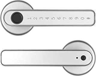 QERMULA Anti-peep Wachtwoord Deurslot Set met Mechanische Sleutels voor Interieur Outdoor Smart Vingerafdruk Deurslot APP ...