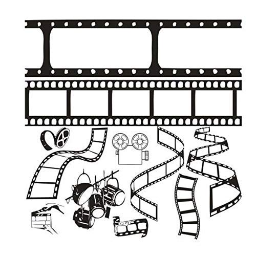 Kino Wandaufkleber Film Film Kamera Kunst Wandaufkleber Studio Salon Filmfirma Schlafzimmer Wohnzimmer Wohnkultur 58X73 Cm