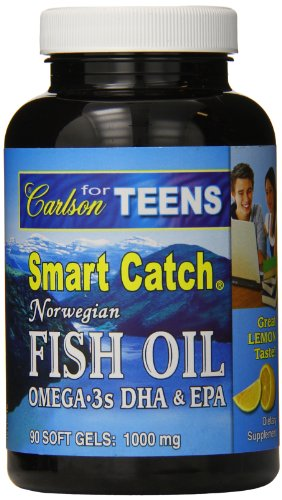 Carlson Labs for Teens Smart Catch, 700mg Natural Lemon, 90 softgels