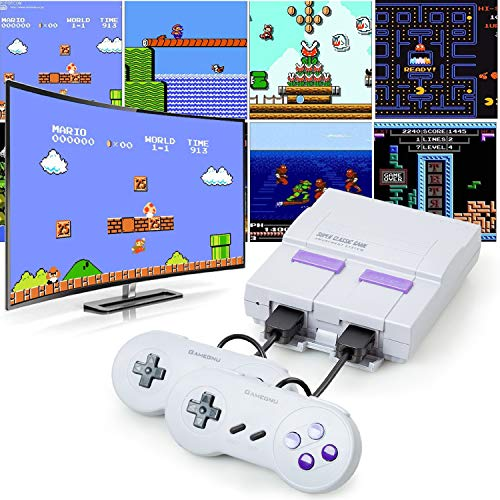 Maxupro Retro Game Console with 2 Controllers, Classic Game Console Built-in 821 Old School Games,...
