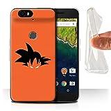 Coque pour Huawei Nexus 6P Combattants d'Anime Goku Inspiré Désign Transparent Doux Silicone Gel/TPU Souple Etui Housse Case