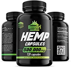 Hemp Oil Extract Capsules For Pain Relief & Anxiety Best Joint Support your Health Sleep Supplement Pill Tablets Immune Mood Anti Inflammatory Natural Organic Hemp Seed Oils Pure Powder
