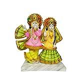 Marble Look Lord Radha Krishna Idol with God Krishan Handicraft Statue makhan chor Spiritual Puja Vastu Showpiece Fegurine Religious Murti
