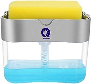 Kitchen Soap Dispenser and Sponge Holder Soap Pump Dispenser Kitchen Sink Organizer caddy Sponge Holder for Kitchen Dish S...