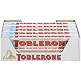 Toblerone Swiss White Chocolate Bars with Honey & Almond Nougat, 20 - 3.52 oz Bars