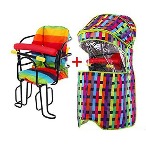 GYYlucky Kinder-Fahrradsitz-Zubehör-Regenschutz, Kinderfahrrad-Rücksitz Großer Baldachin, Four Seasons Universal-Kinder-Fahrradsitz-Regenschutz (Color : E)