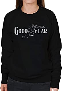 Goodyear Svart och vit logotyp damtröja