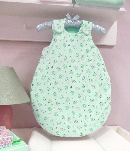 AN1-68-04 Baby-Joy Babyschlafsack Schlafsack Jersey ANNA 62/68cm Winterschlafsack Grün Hellgrün