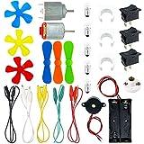 GALDOEP Juego de Motor Eletrico Bricolaje,para bricolaje, perfecto para mini ventiladores, juguetes eléctricos, experimentos científicos, etc.
