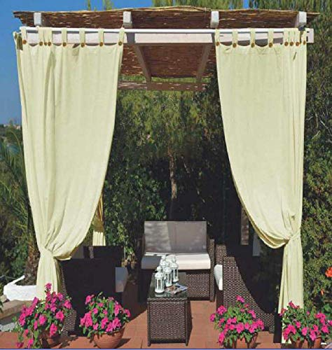 Megashopitalia Tenda da Sole per Gazebo Pergola Veranda Impermeabile Anti-Muffa Resinata Idrorepellente 140x270cm (Panna)