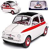 Solido Fiat 500 L Nuova - Modelo de coche con rayas rojas (1957-1977)