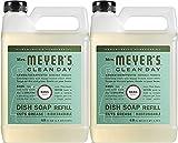 Mrs. Meyer's Liquid Dish Soap Refill, Basil, 48 OZ (Pack - 2)