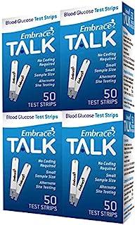 Embrace Blood Glucose Test Strips 200Ct