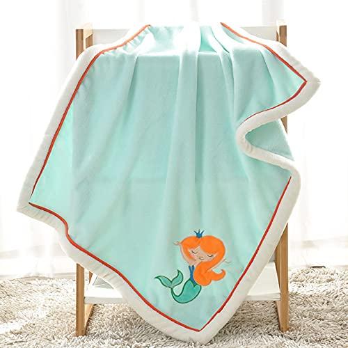 UKKD Toalla de baño para bebé Manta De Bebé para Mantener El Cálido, Siesta Cochecito De Bebé Envuelto Recién Nacido Bebé Ropa De Cama Blanketa