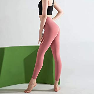 High Waist Seamless Yoga Pants Female Sports Tight Running Yoga Clothes Hip Fitness Pants,Pink,S