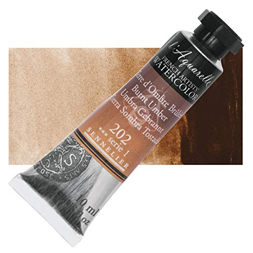 Sennelier l'Aquarelle Watercolor Tubes 10ml - Burnt Umber 10ml Tube